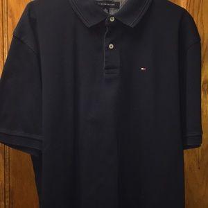 Tommy Hilfiger Men's Navy Blue Short Sleeve Polo